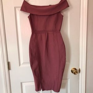 Fashion nova pink bandage dress medium
